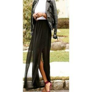ZARA WOMAN double slit maxi skirt. Size XS
